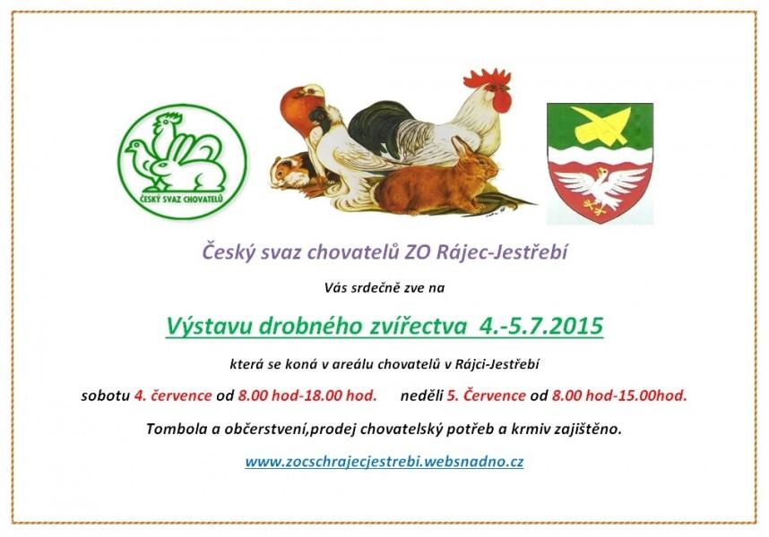 ČSCH Rájec výstava, pozvánka, 2015